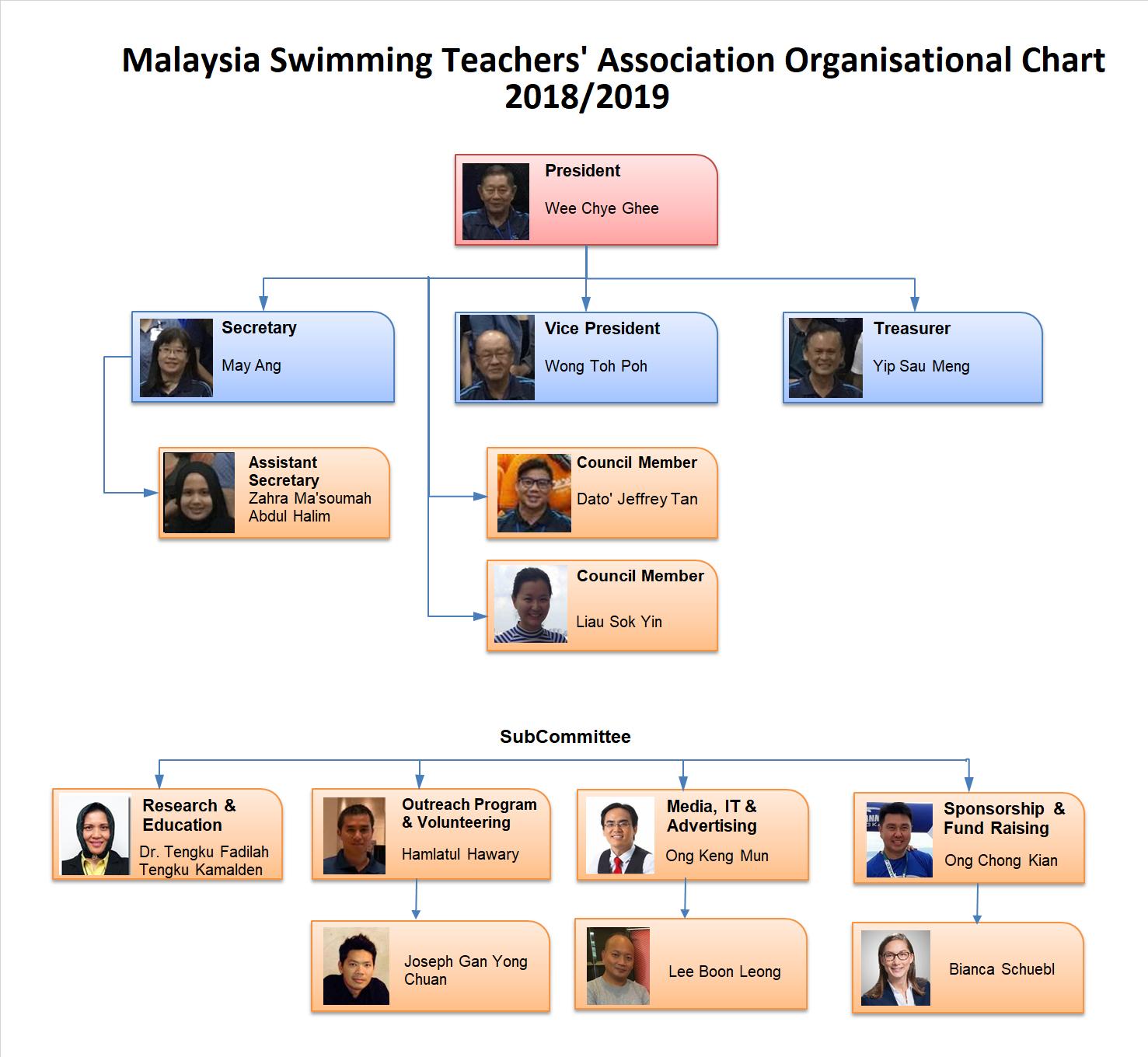 MSTA Organisational Chart 2018_2019